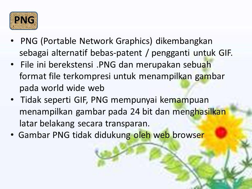 PNG PNG (Portable Network Graphics) dikembangkan