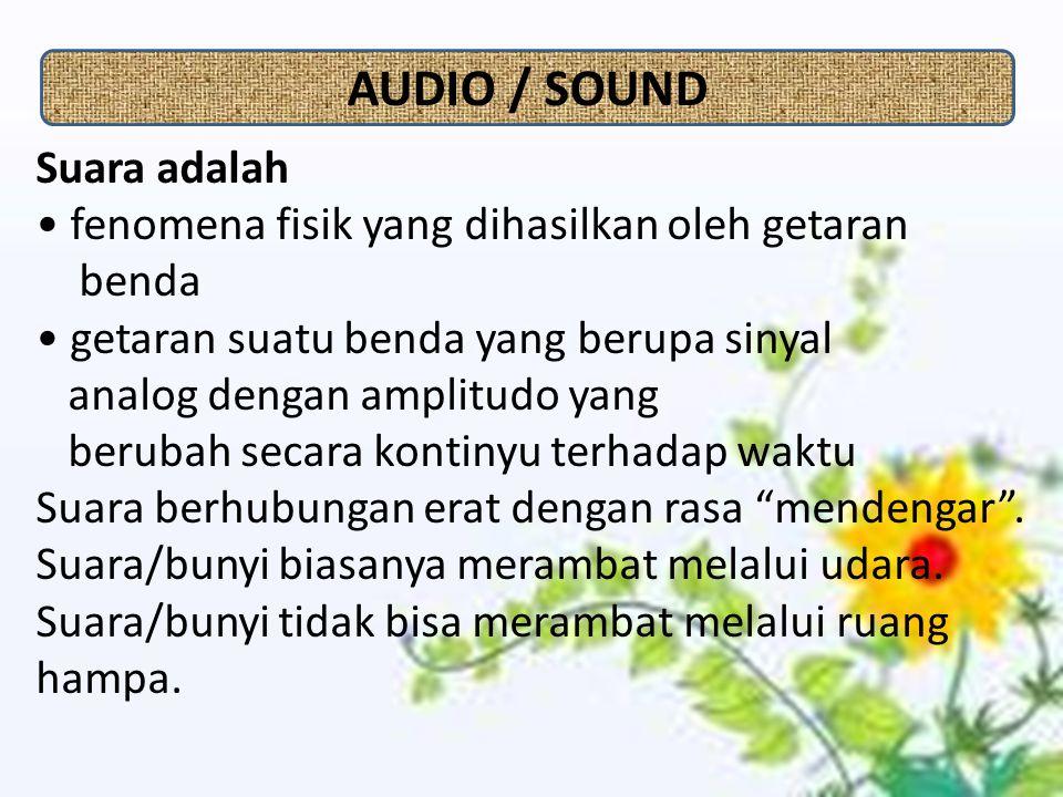 AUDIO / SOUND Suara adalah