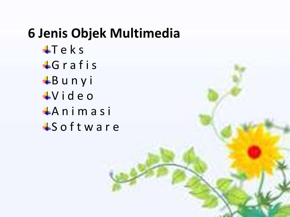 6 Jenis Objek Multimedia