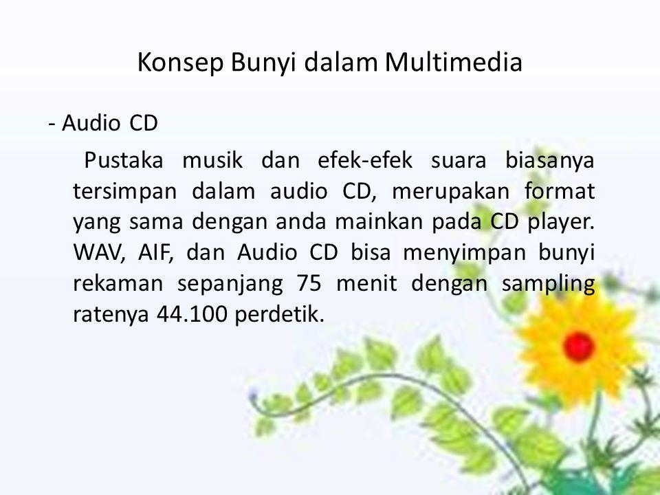 Konsep Bunyi dalam Multimedia
