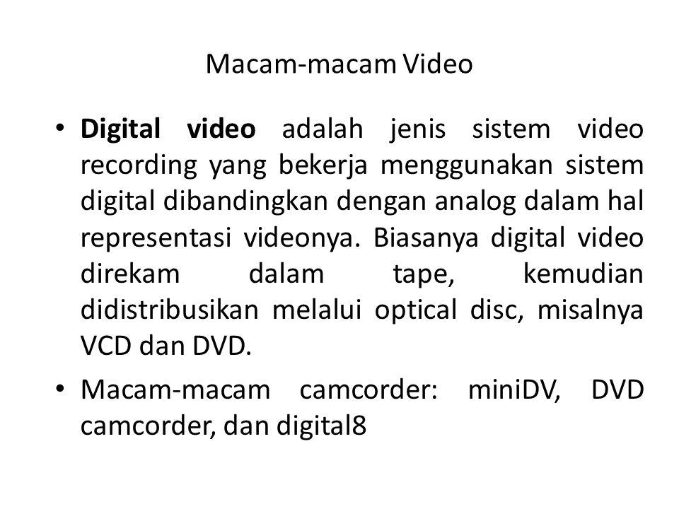 Macam-macam Video