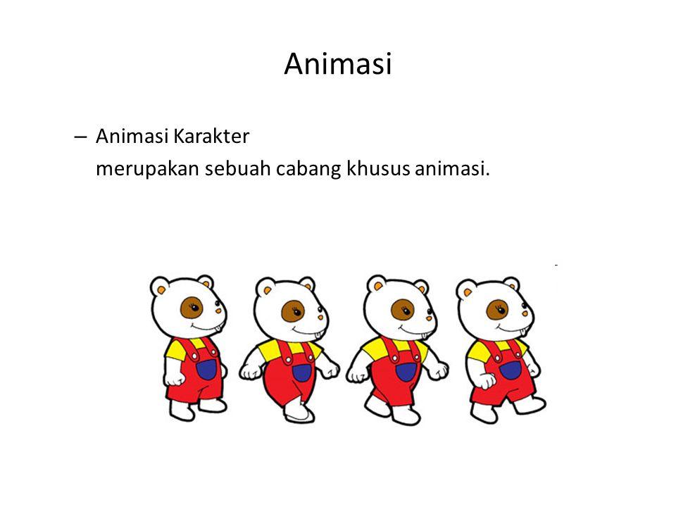 Animasi Animasi Karakter merupakan sebuah cabang khusus animasi.