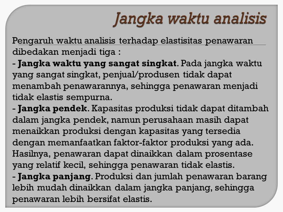 Jangka waktu analisis