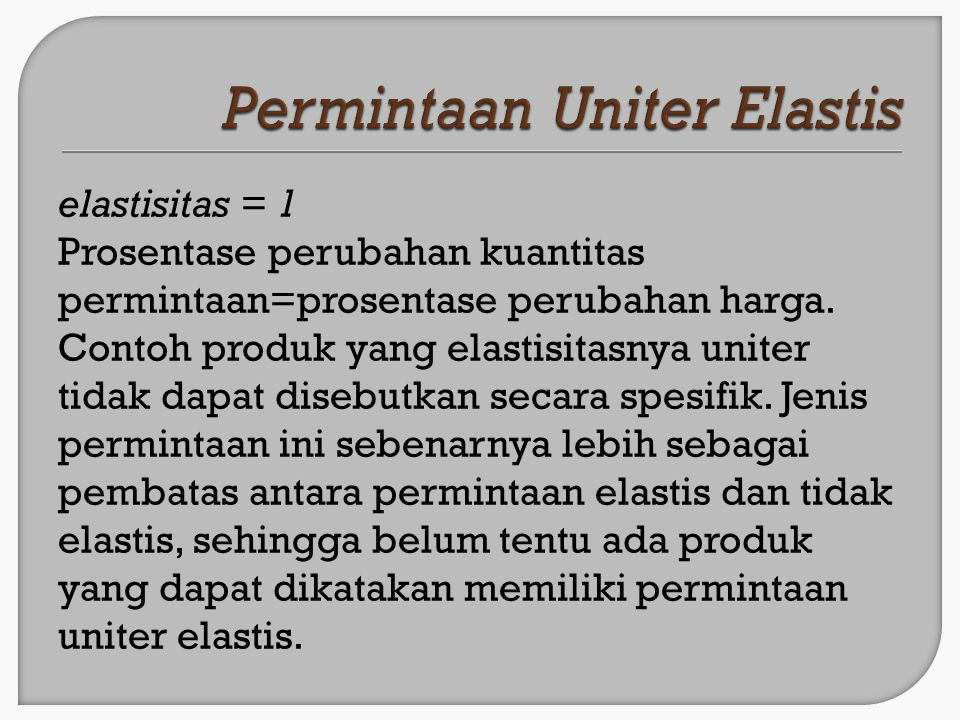 Permintaan Uniter Elastis