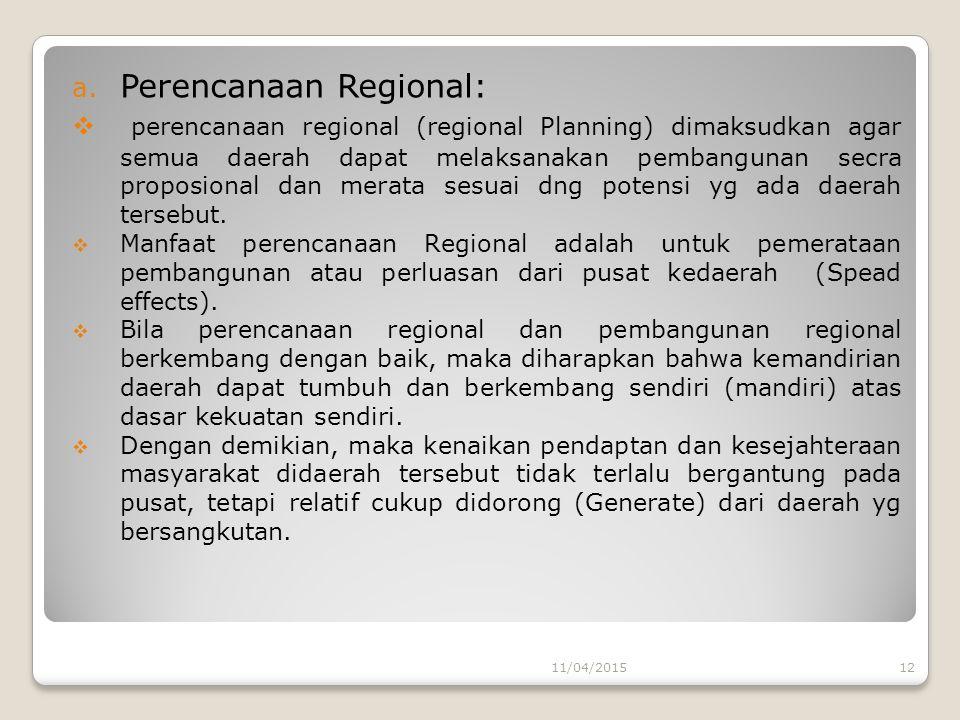 Perencanaan Regional: