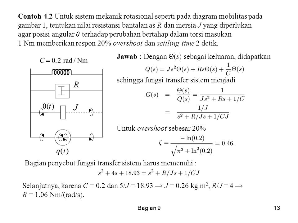 Jawab : Dengan (s) sebagai keluaran, didapatkan