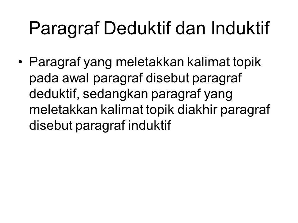 Paragraf Deduktif dan Induktif