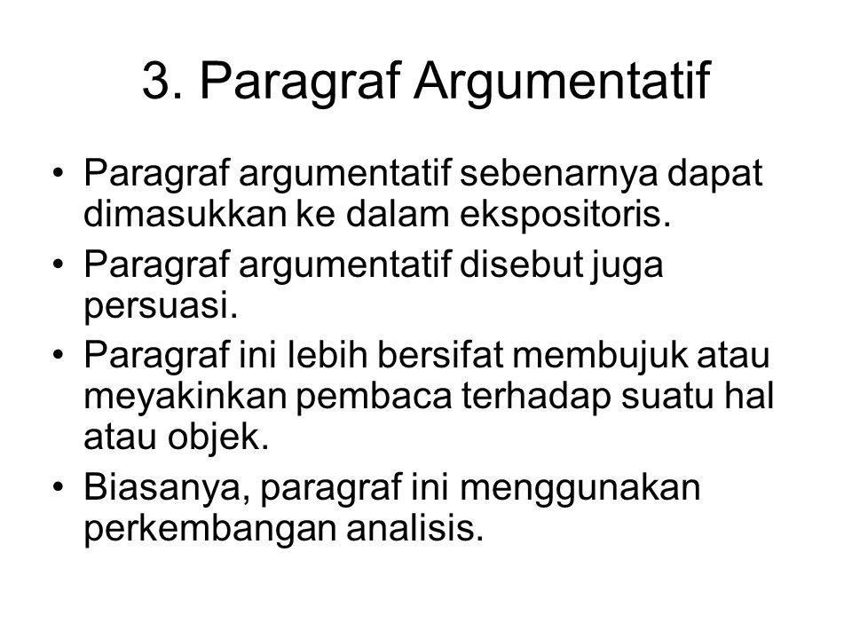 3. Paragraf Argumentatif