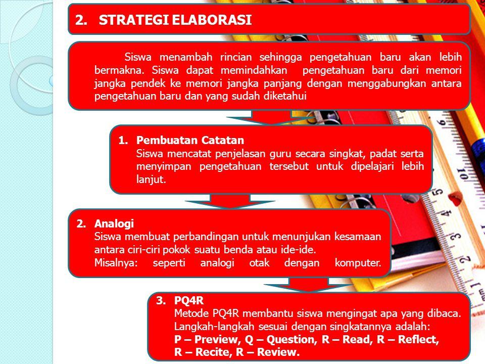 2. STRATEGI ELABORASI