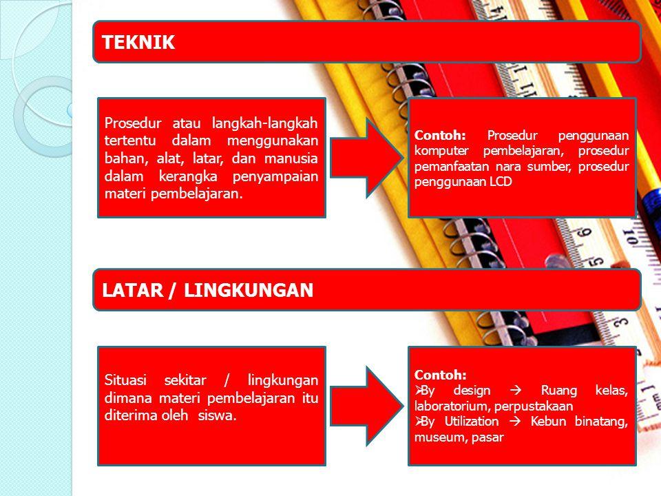 TEKNIK LATAR / LINGKUNGAN