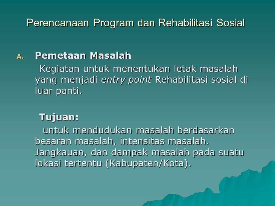 Perencanaan Program dan Rehabilitasi Sosial