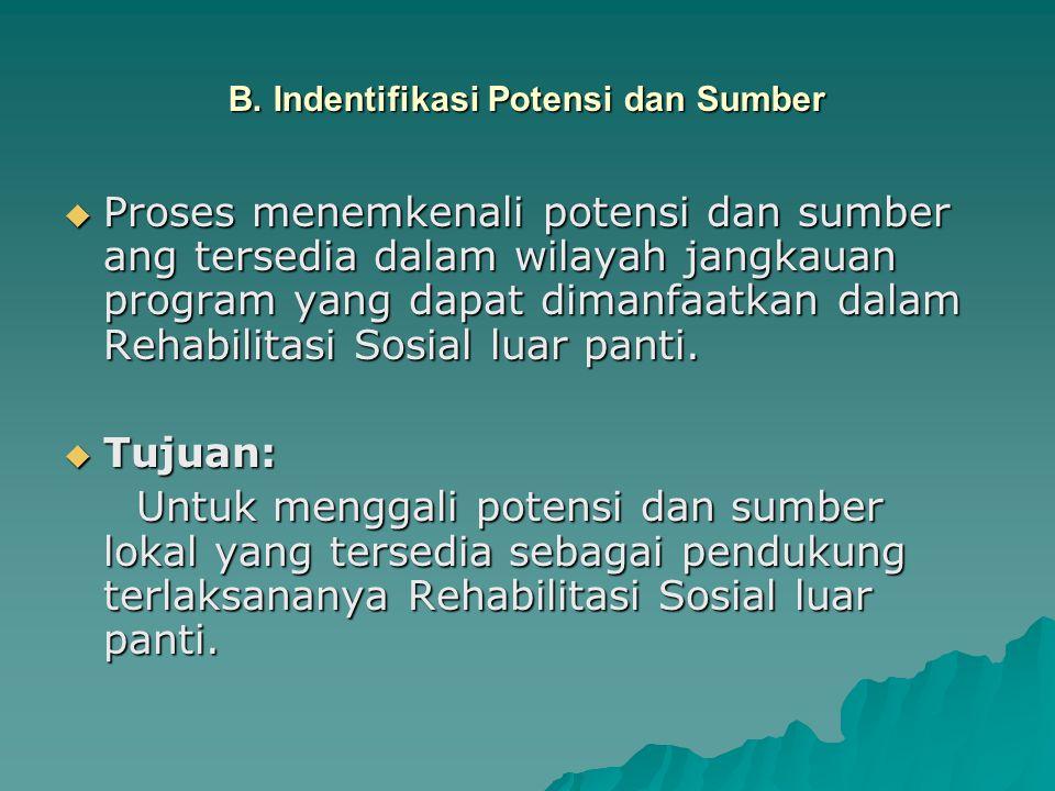 B. Indentifikasi Potensi dan Sumber