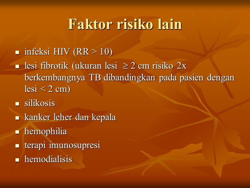 Faktor risiko lain infeksi HIV (RR > 10)