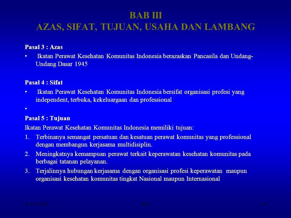 BAB III AZAS, SIFAT, TUJUAN, USAHA DAN LAMBANG