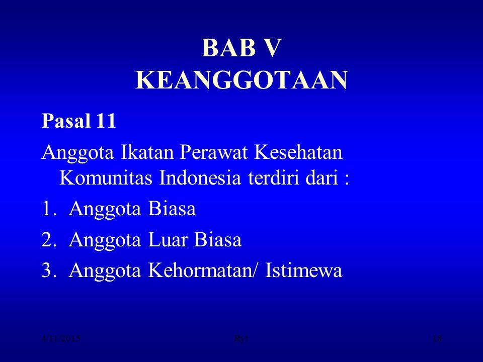 BAB V KEANGGOTAAN Pasal 11