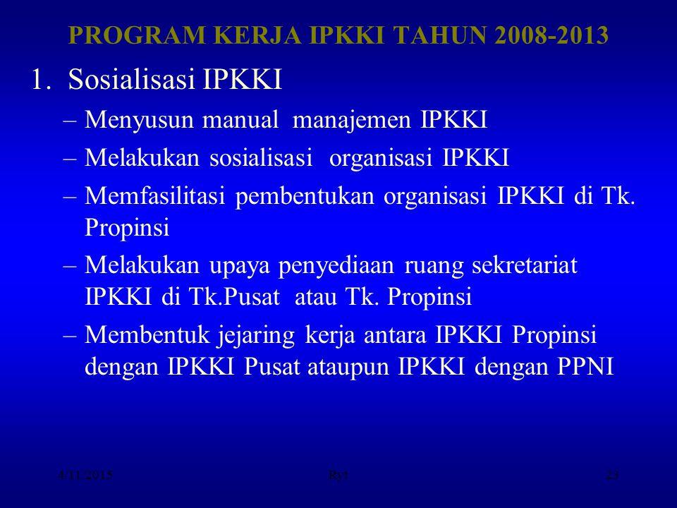 PROGRAM KERJA IPKKI TAHUN 2008-2013