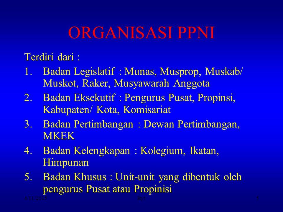 ORGANISASI PPNI Terdiri dari :