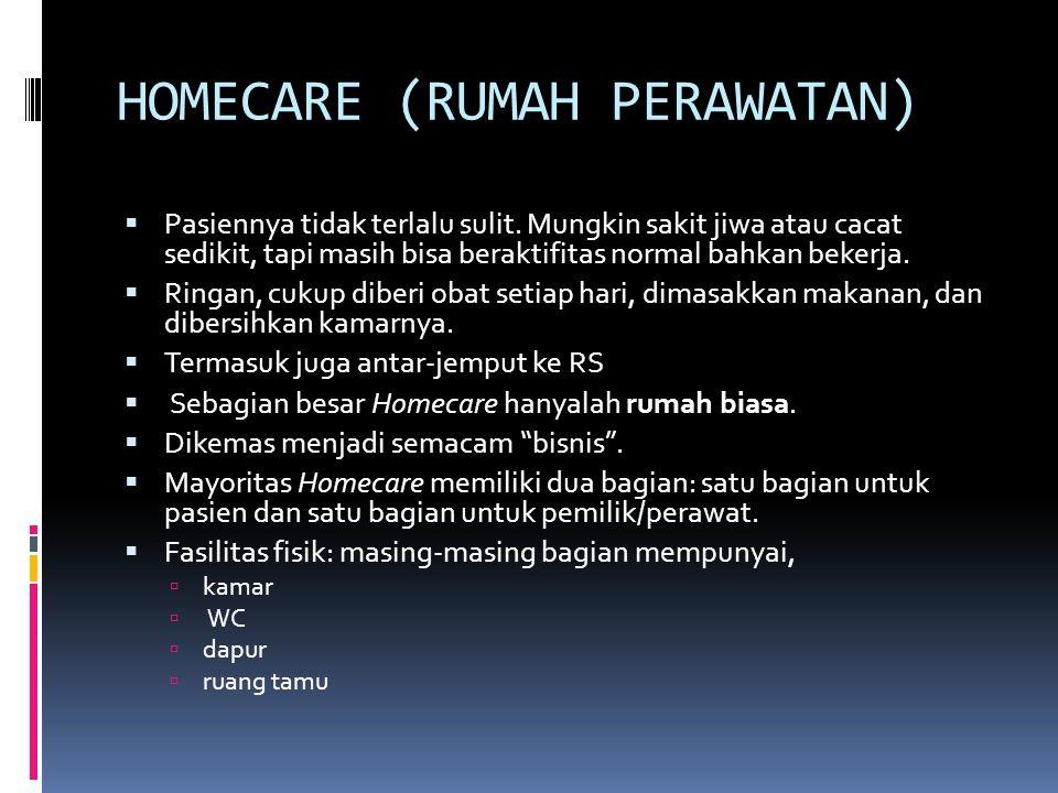 HOMECARE (RUMAH PERAWATAN)