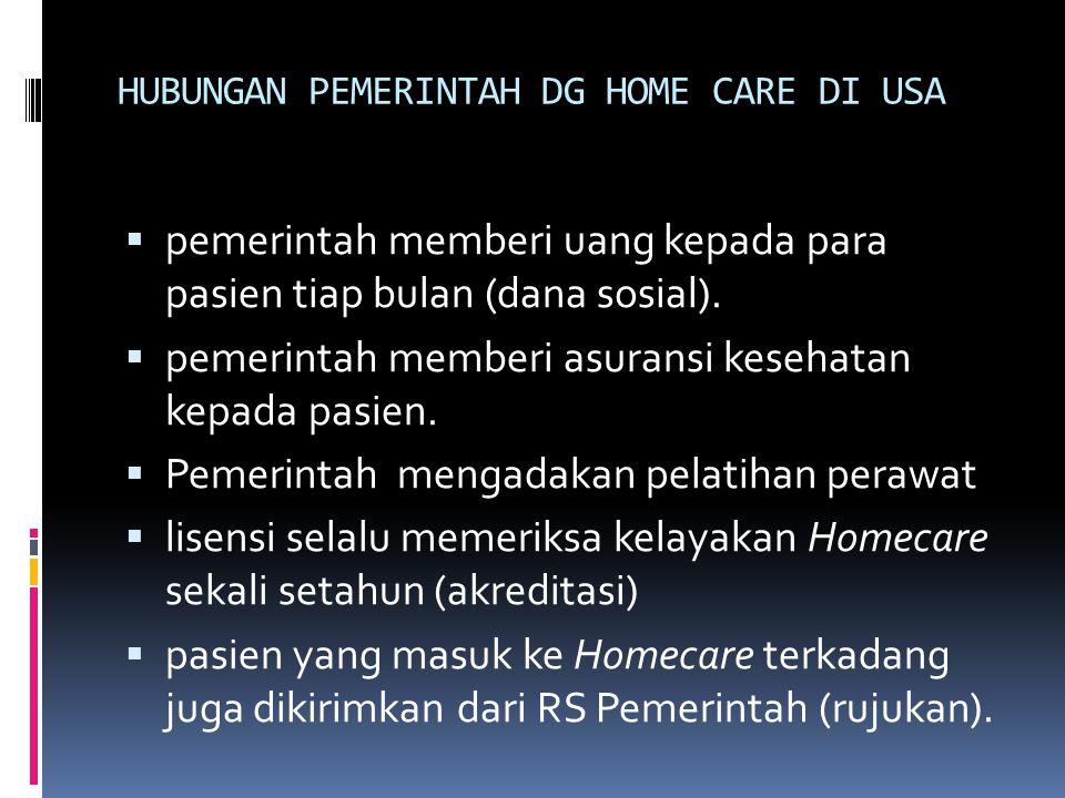 HUBUNGAN PEMERINTAH DG HOME CARE DI USA