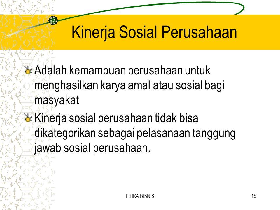 Kinerja Sosial Perusahaan