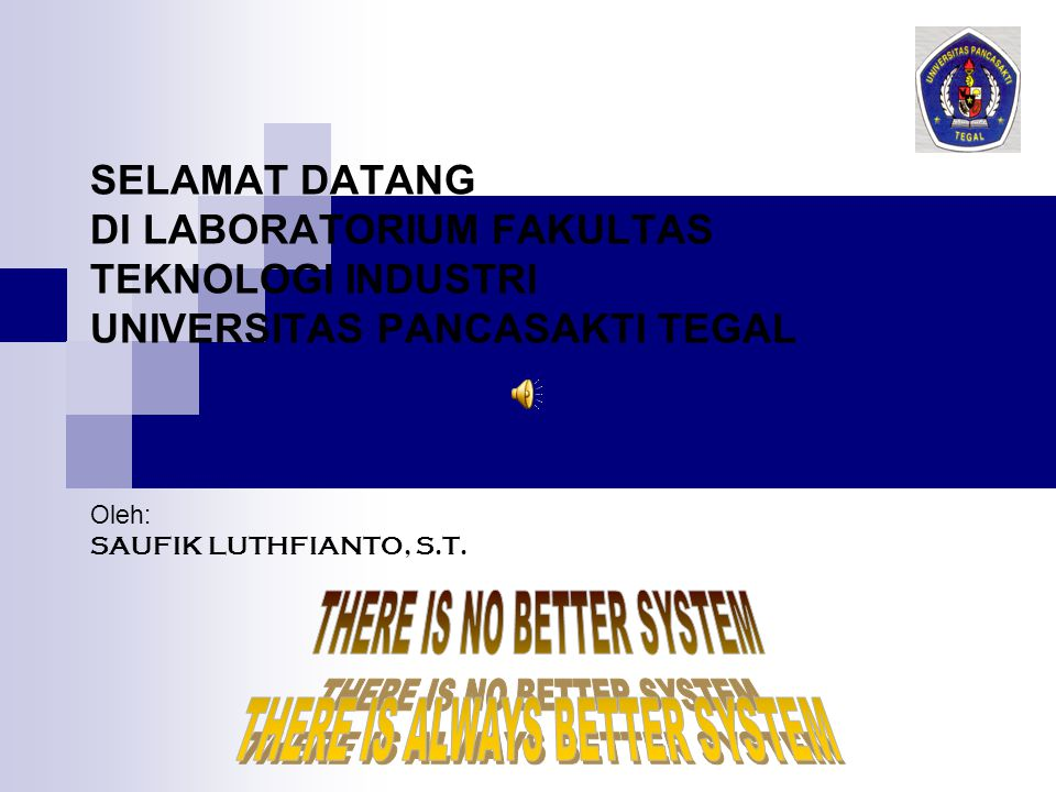 THERE IS NO BETTER SYSTEM THERE IS ALWAYS BETTER SYSTEM