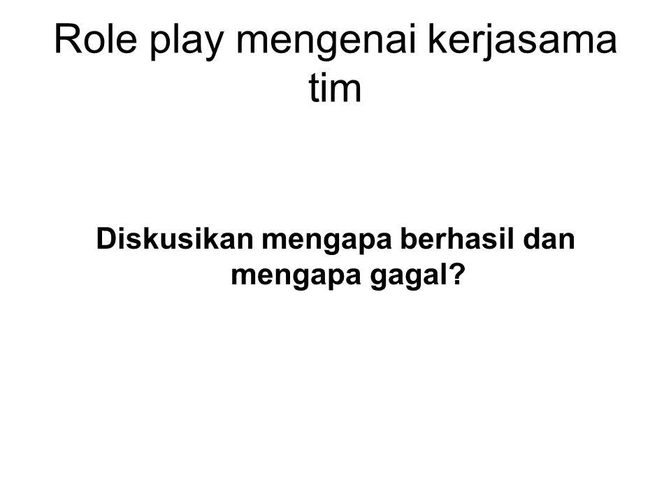 Role play mengenai kerjasama tim