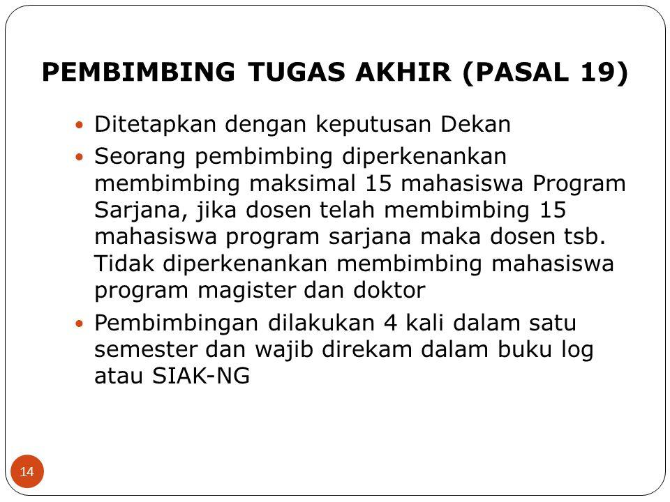 PEMBIMBING TUGAS AKHIR (PASAL 19)