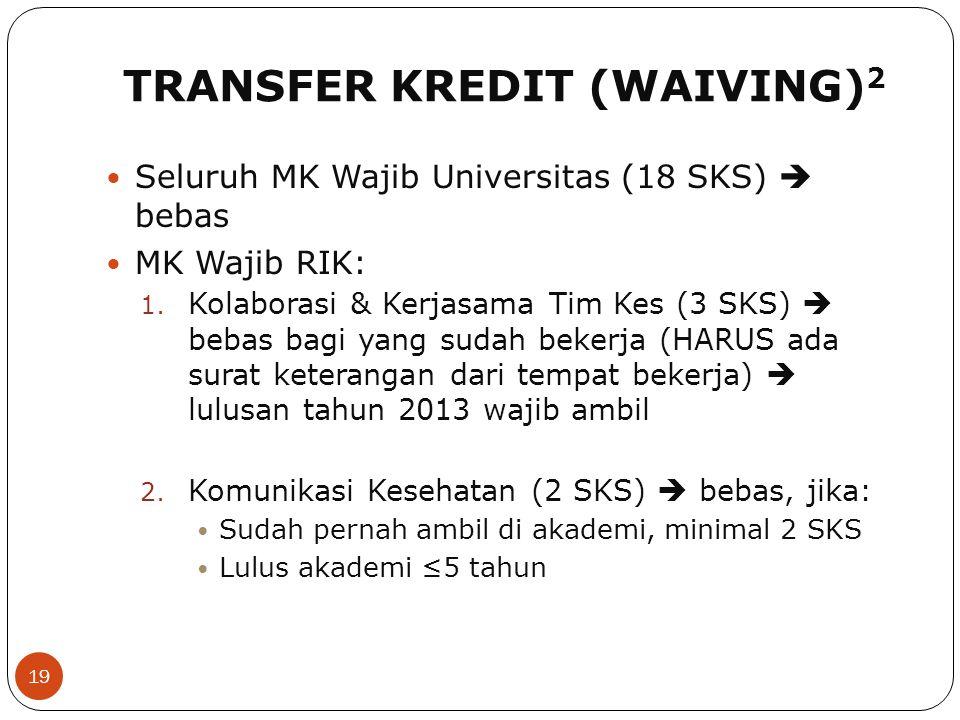 TRANSFER KREDIT (WAIVING)2
