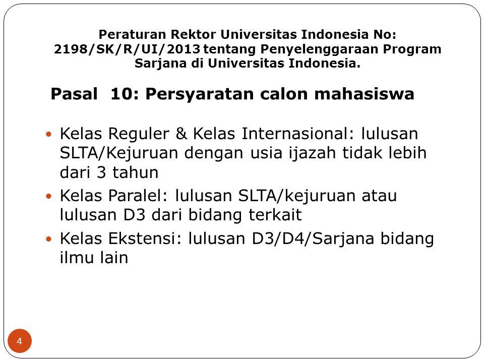 Pasal 10: Persyaratan calon mahasiswa