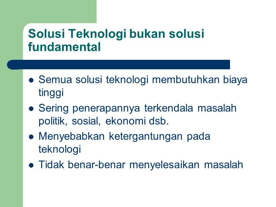 Solusi Teknologi bukan solusi fundamental