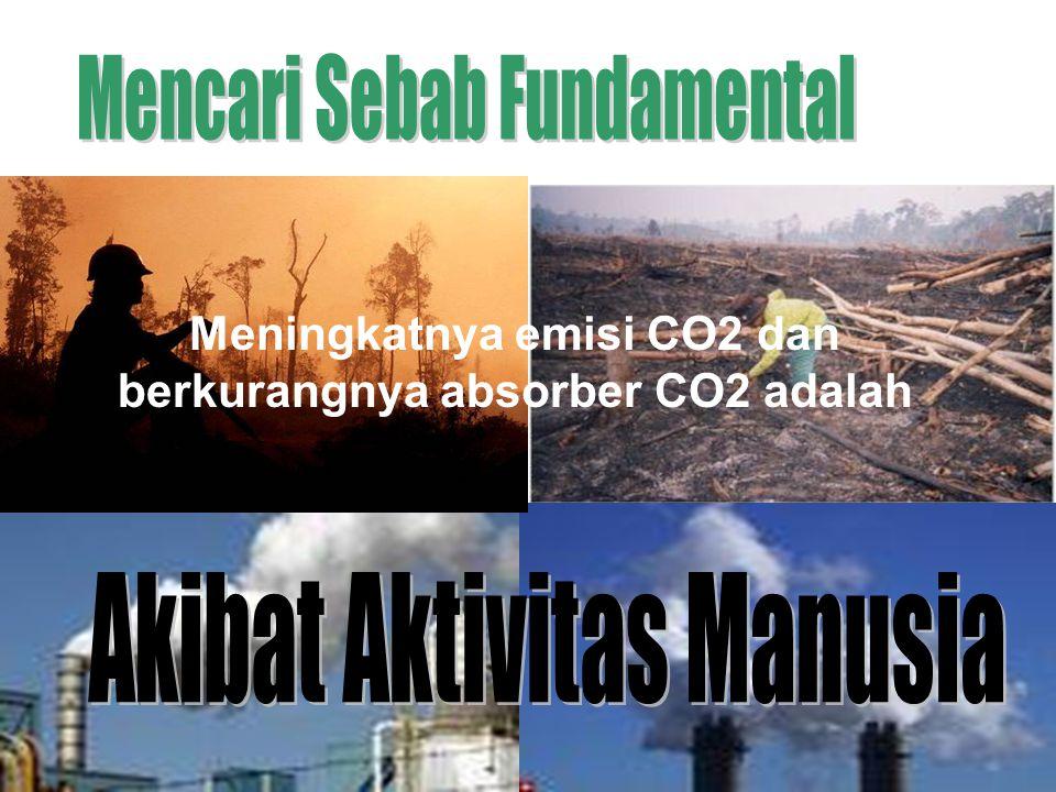 Meningkatnya emisi CO2 dan berkurangnya absorber CO2 adalah