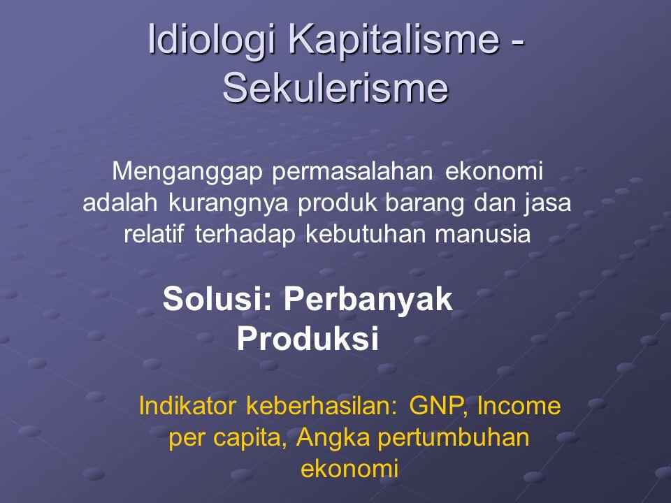 Idiologi Kapitalisme - Sekulerisme