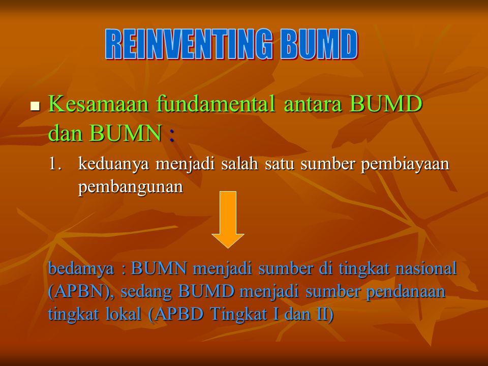 Kesamaan fundamental antara BUMD dan BUMN :