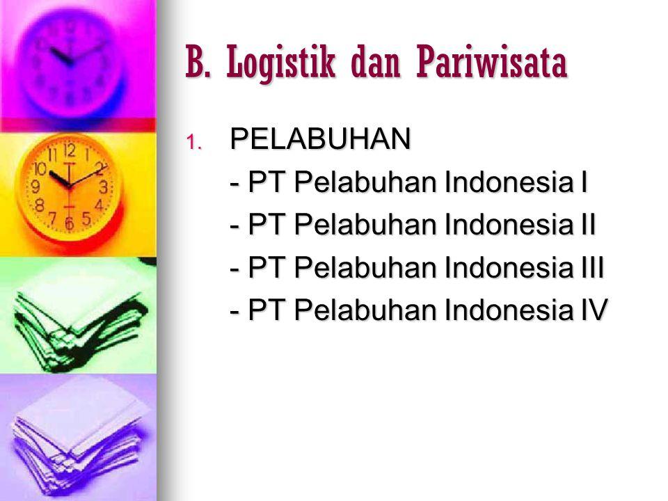 B. Logistik dan Pariwisata
