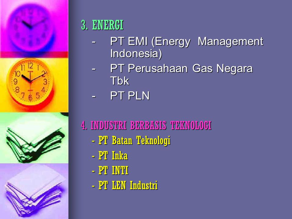 3. ENERGI - PT EMI (Energy Management Indonesia)