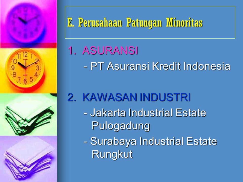 E. Perusahaan Patungan Minoritas