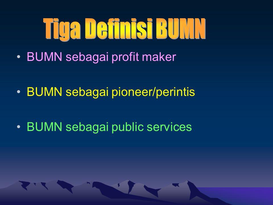 Tiga Definisi BUMN BUMN sebagai profit maker