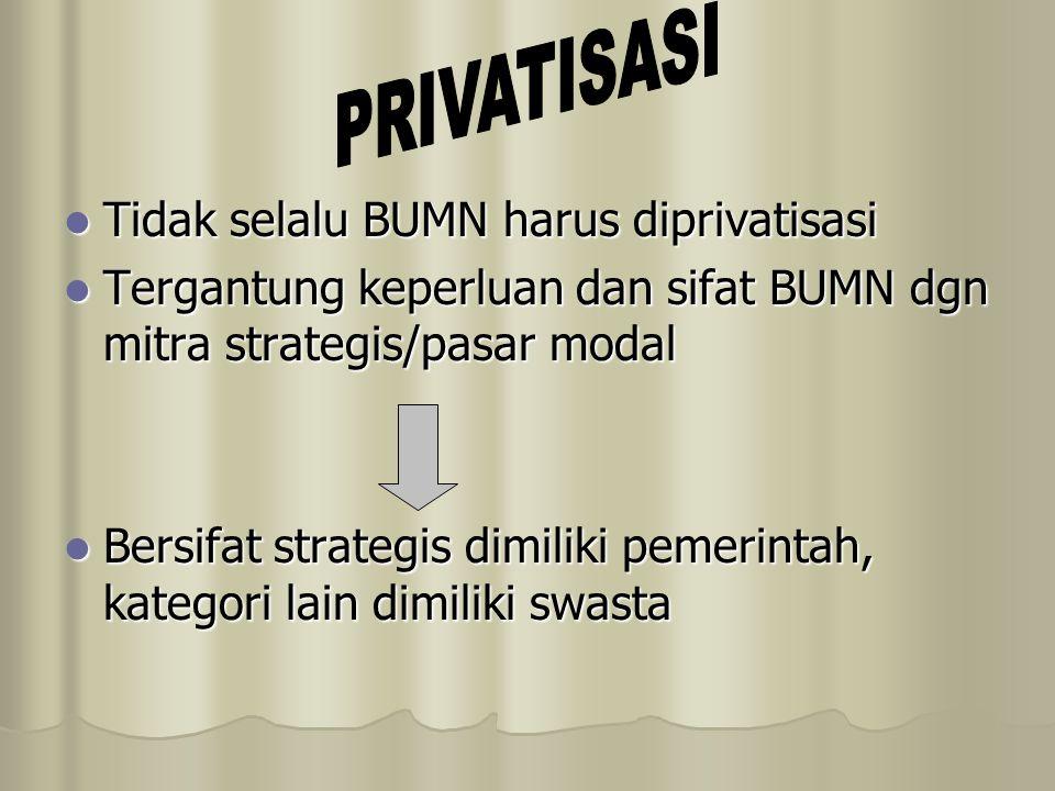 PRIVATISASI Tidak selalu BUMN harus diprivatisasi