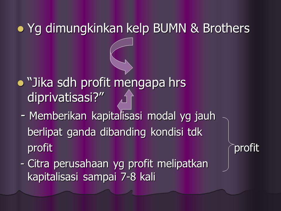 Yg dimungkinkan kelp BUMN & Brothers