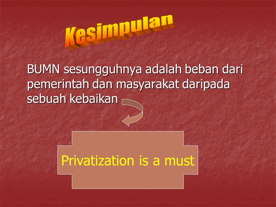 Privatization is a must