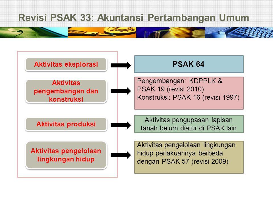 Revisi PSAK 33: Akuntansi Pertambangan Umum