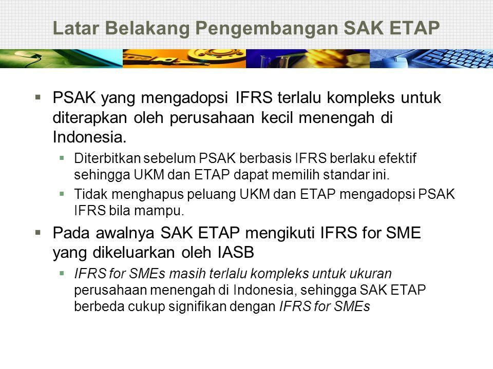Latar Belakang Pengembangan SAK ETAP