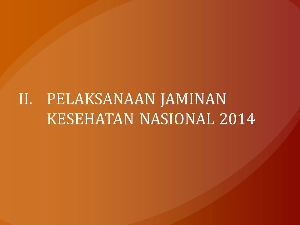PELAKSANAAN JAMINAN KESEHATAN NASIONAL 2014
