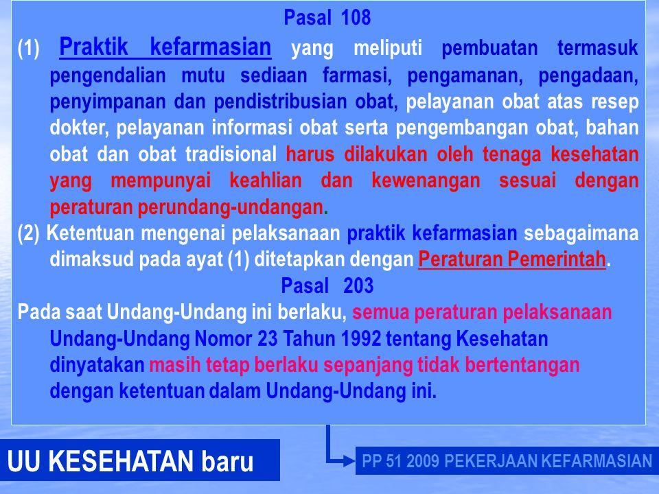 UU KESEHATAN baru Pasal 108