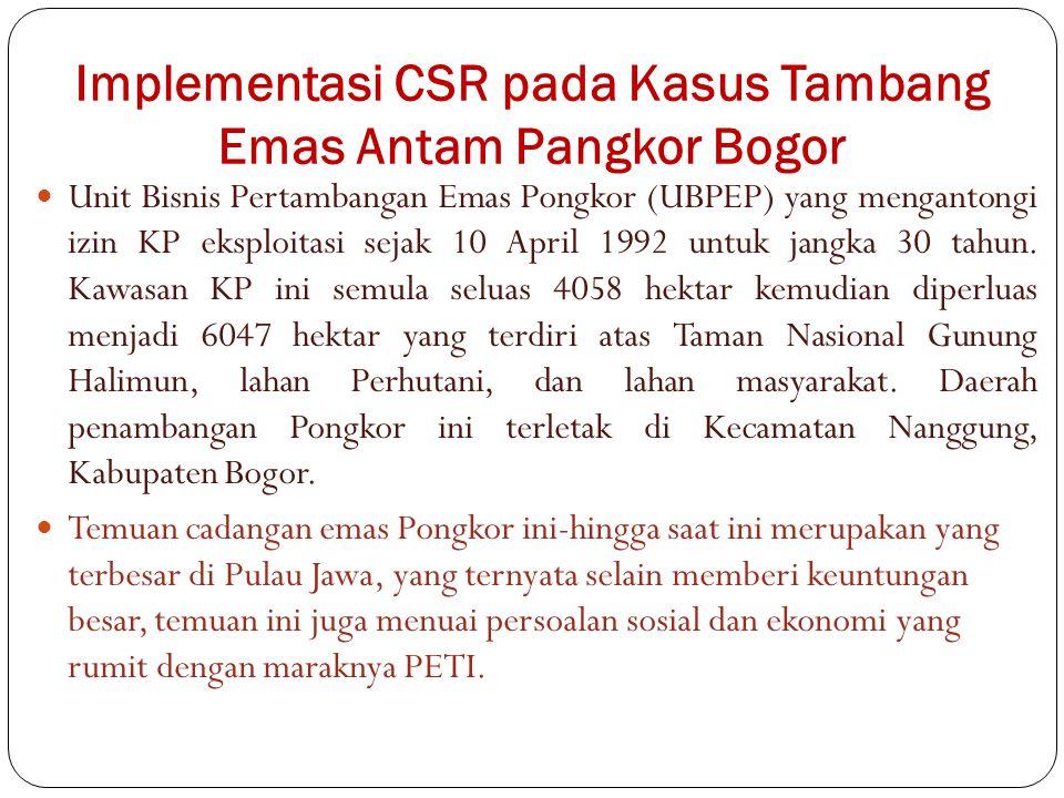 Implementasi CSR pada Kasus Tambang Emas Antam Pangkor Bogor