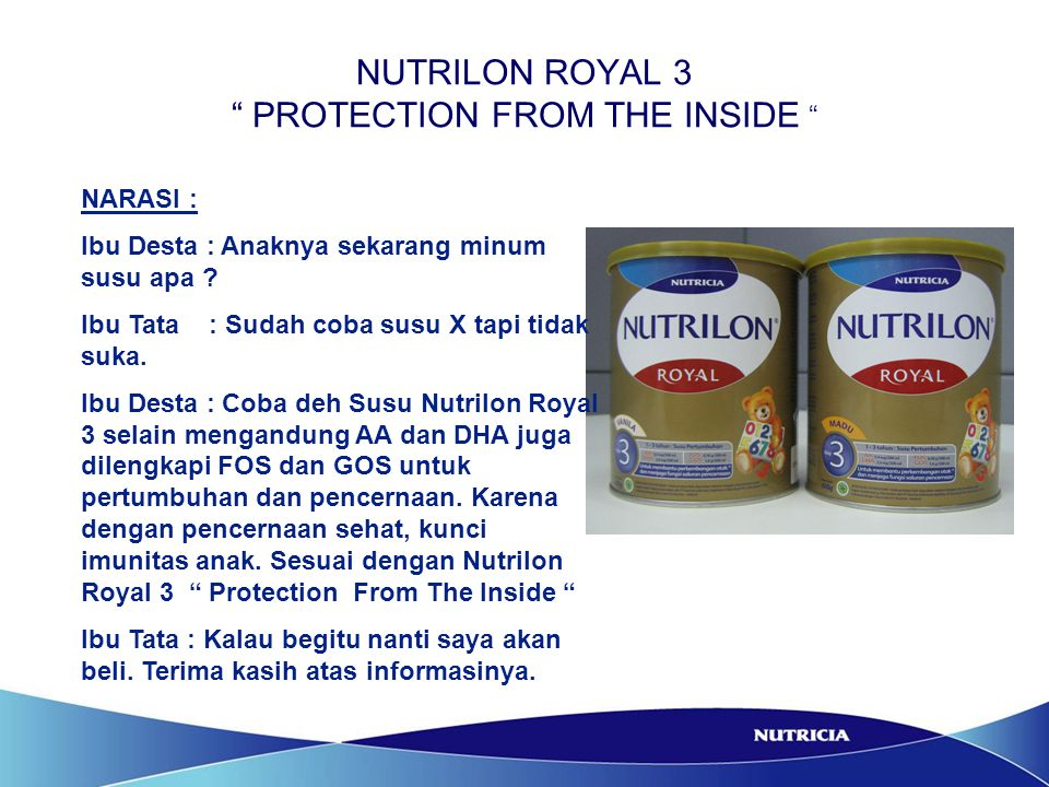 NUTRILON ROYAL 3 PROTECTION FROM THE INSIDE