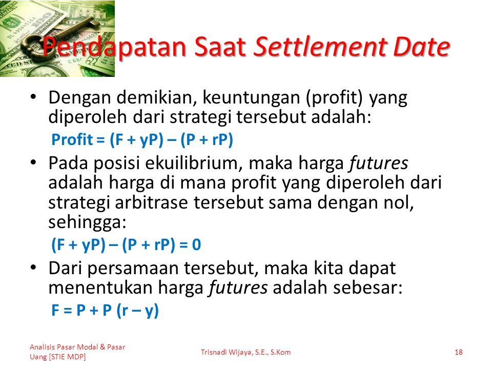 Pendapatan Saat Settlement Date
