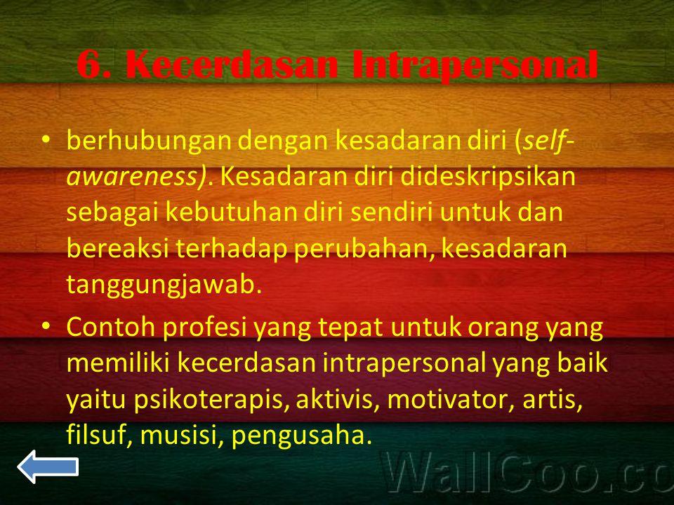 6. Kecerdasan Intrapersonal