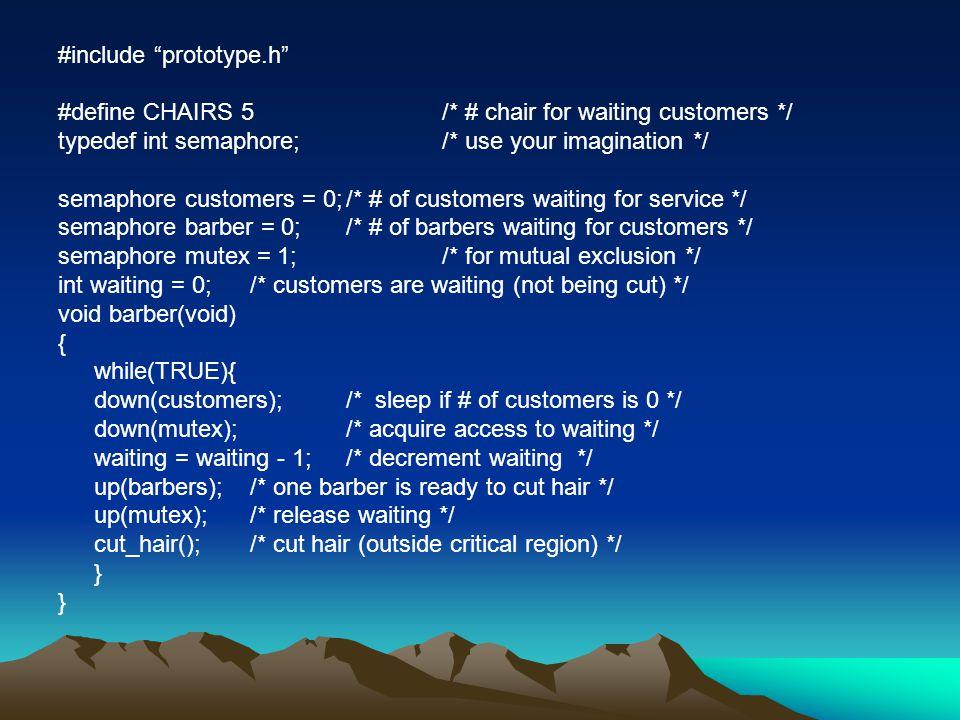 #include prototype.h