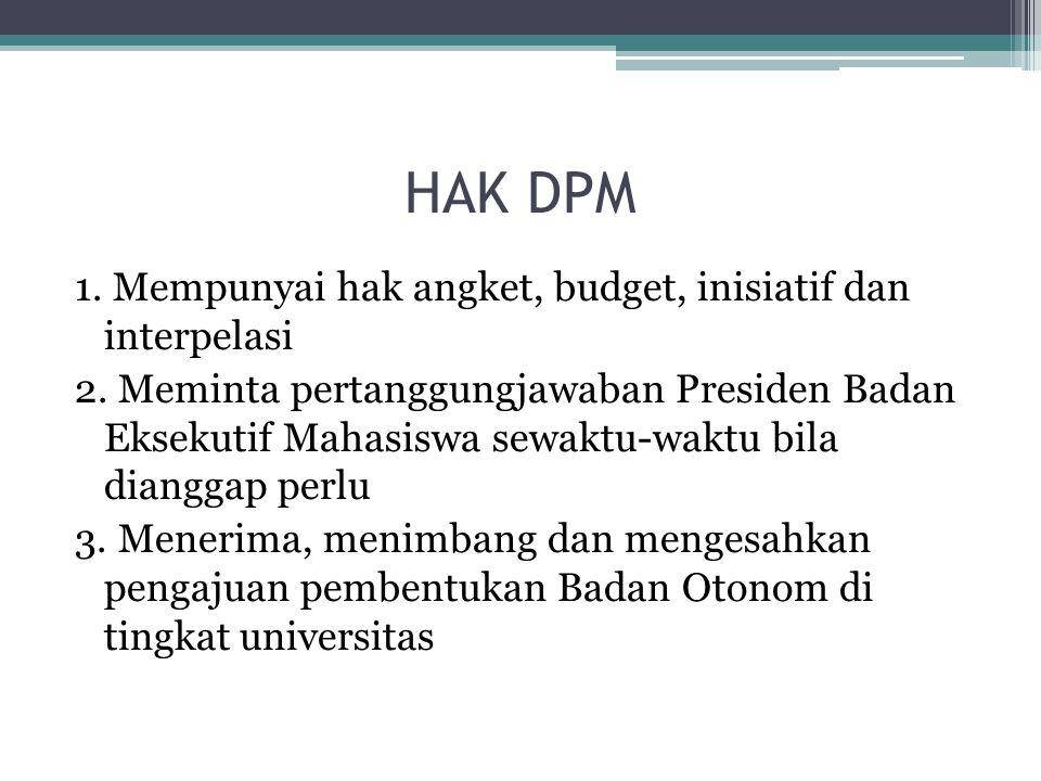 HAK DPM